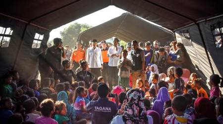Several hundred stranded on Lombok volcano in Indonesia after earthquake