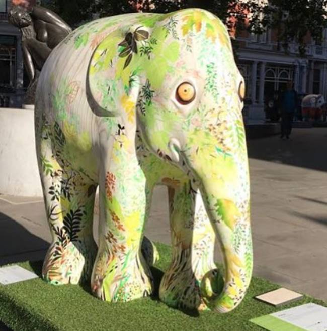Elephant day parade, Elephant day parade london, indian elephants, Gaurav Gupta elephant, Good Earth elephant, J J Valaya, indian express, indian express news