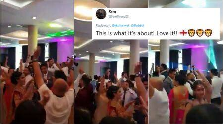 This dance video from a Punjabi wedding after England's quarterfinal win is winning hearts online