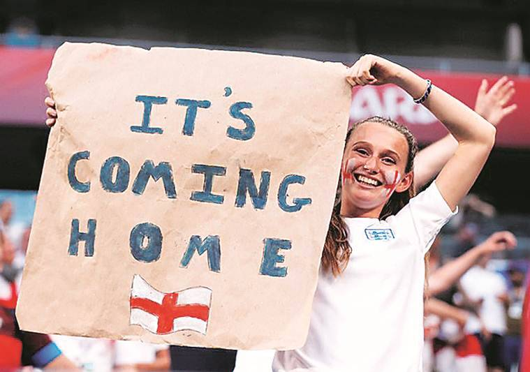 England fans celebrate as team make it to semi-final