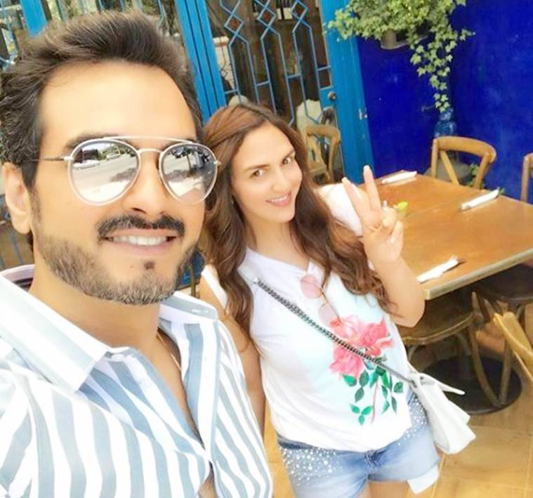 Esha Deol and family in california