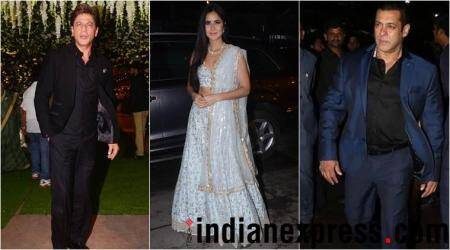 Shah Rukh Khan, Salman Khan, Katrina Kaif seen at Poorna Patel's reception