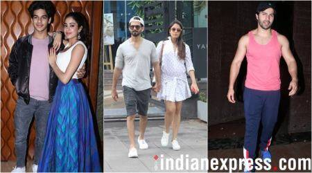 Celeb spotting: Shahid Kapoor, Janhvi Kapoor, Varun Dhawan and others