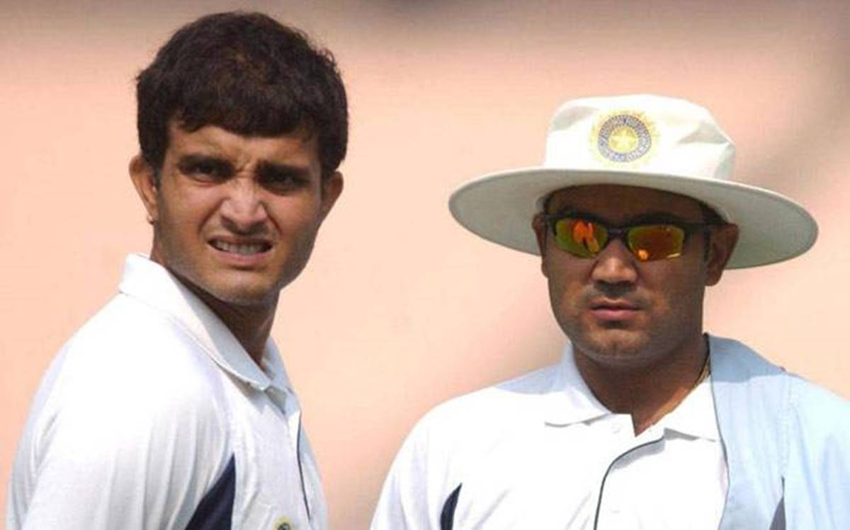 Sourav Ganguly and Virender Sehwag.