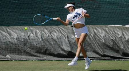 Garbine Muguruza, Garbine Muguruza Wimbledon, Wimbledon 2018, sports news, tennis, Indian Express