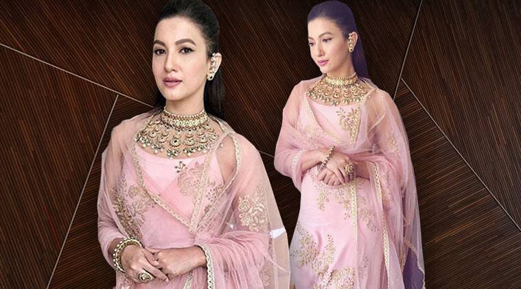 gauhar khan, gauhar khan pink churidar, gauhar khan instagram, gauhar khan latest picture, indian express, indian express news
