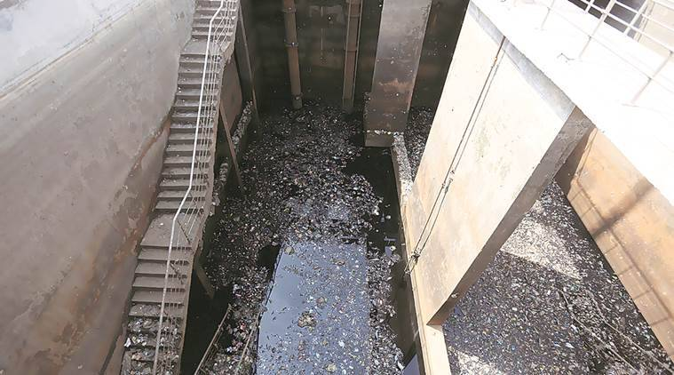 Ghaziabad sewage plant, sewage plant cleaning, sewage treatment, delhi, delhi news, indian express news