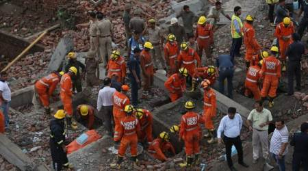 One dead, eight injured as five-storey collapses inGhaziabad