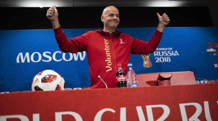 FIFA World Cup 2018, FIFA World Cup 2018 news, Gianni Infantino, Gianni Infantino news, Gianni Infantino updates, sports news, football, Indian Express