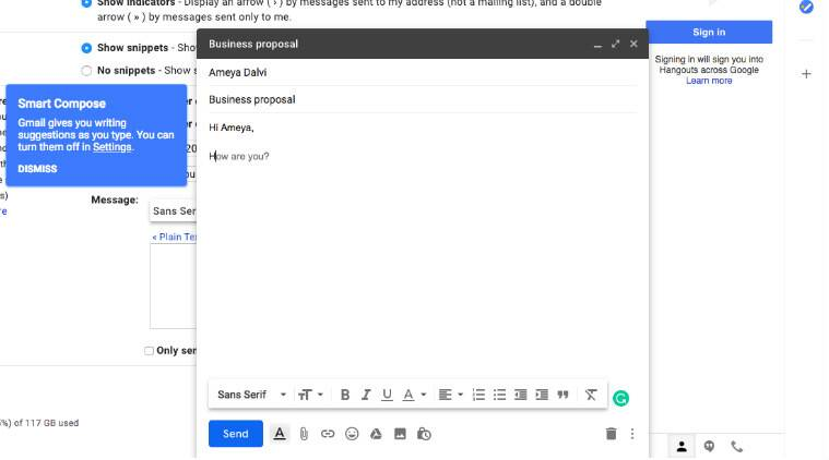 smart compose, how to type emails faster, how to write emails faster, how to use smart compose, enable smart compose, smart compose gmail, smart compose AI