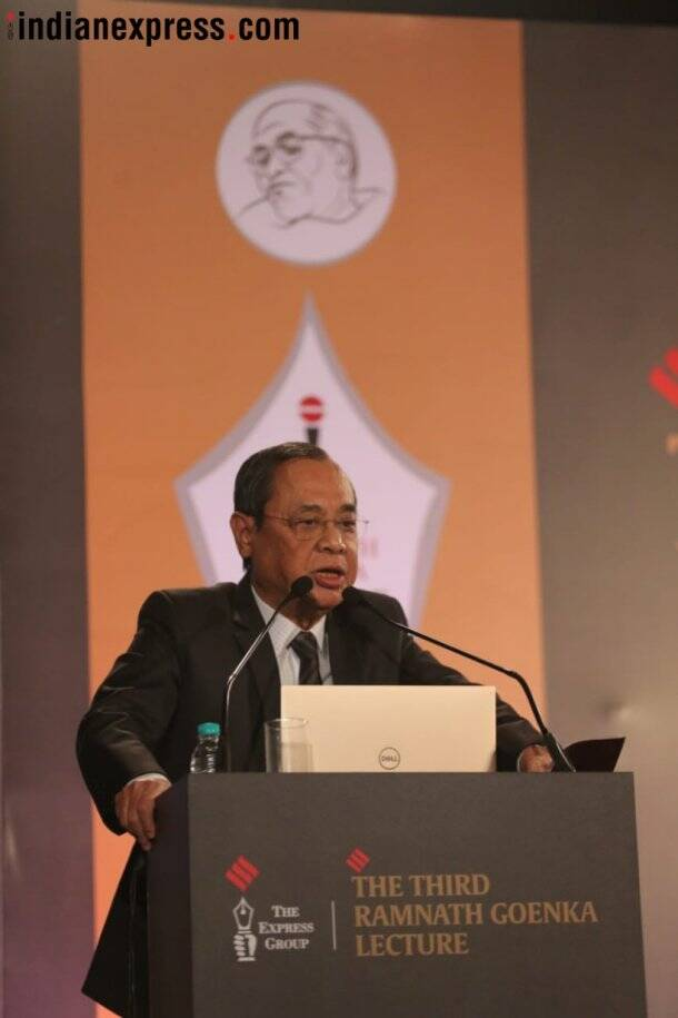Justice Gogoi at third Ramnath Goenka Memorial Lecture: 'Judiciary needs to be more pro-active'