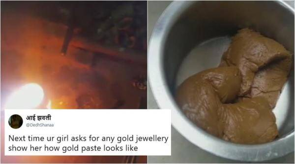 gold smuggling, gold hyderabad airport, illegal gold airport, gold smuggling india, gold paste, india news, indian express, weird news, bizarre news, odd news, funny news,