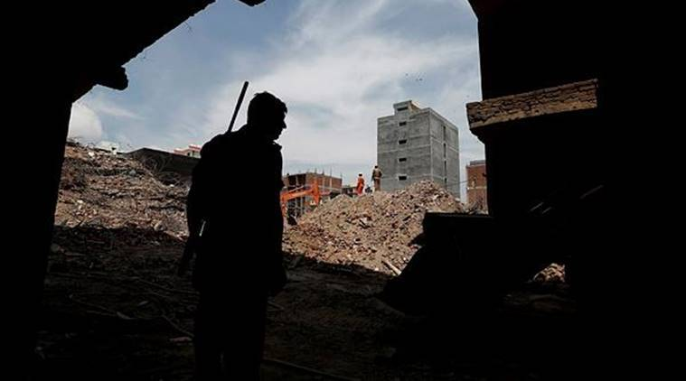 Before the July 17 collapse, at least five complaints were made to multiple authorities on the ongoing construction and lack of basic amenities in Shahberi. (Reuters)