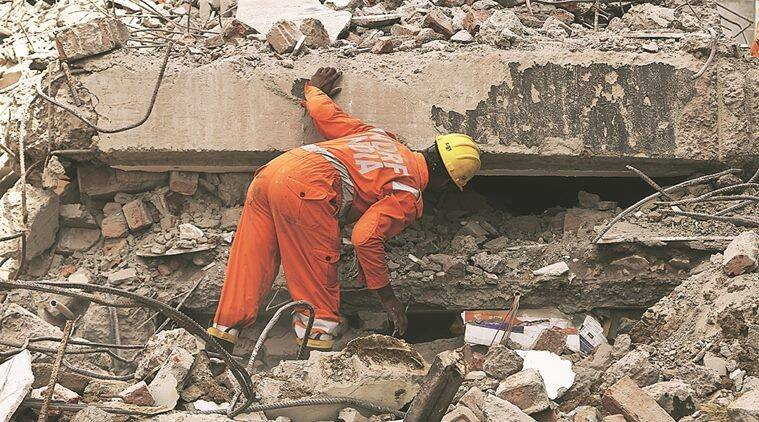 The four-storey building had no drain or sewerage system, with waste water accumulating around homes, seeping into the ground and, residents believe, weakening the foundation.