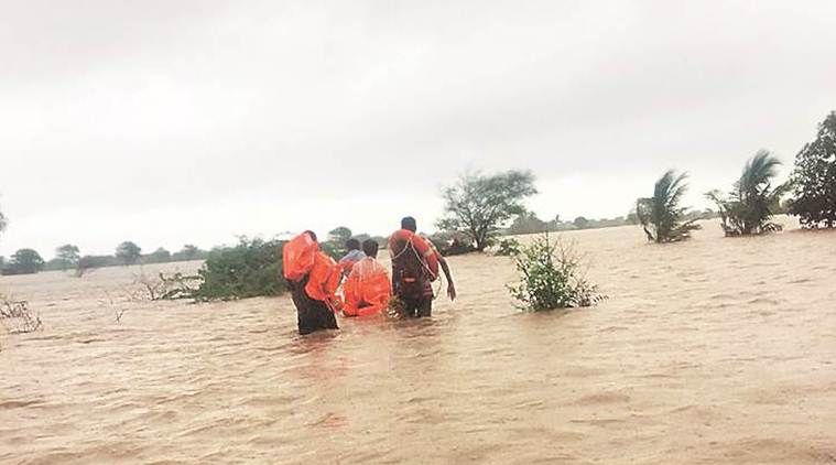 Two dead, nearly 1,900 shifted to safer places as heavy rainfall batters Gujarat