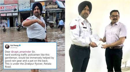 Traffic personnel honoured after Gul Panag's viral tweet appreciating their work