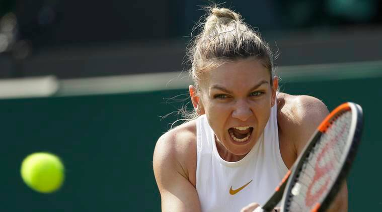 Simona Halep, Simona Halep news, Simona Halep updates, Wimbledon 2018, sports news, tennis, Indian Express