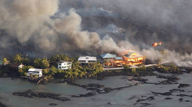 Lava from Kilauea 'collapse explosion' destroys Hawaii structures