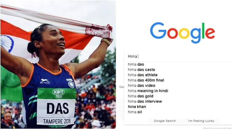 hima das, hima das caste, hima das gold, hima das India gold, Hima Das athletics, Hima Das caste google search, Hima Das assam, what is Hima Das caste, Hima Das assam caste, Hima Das first India gold, Hima Das first gold for India in athletics, Indian express, Indian express news