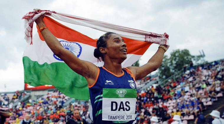 Hima Das, Hima Das India, India Hima Das, Hima Das medal, Hima Das gold medal, sports news, Indian Express