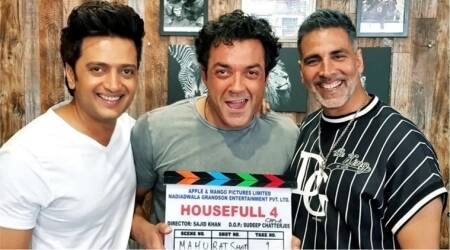 Akshay Kumar, Riteish Deshmukh and Bobby Deol shoot 'hit song' with Farah Khan for Housefull 4
