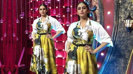 Huma Qureshi's take on this halter neck midi dress isn't inspiring at all