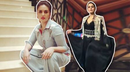 Huma Qureshi in denim jumpsuit or black gown: Which one is your favourite?