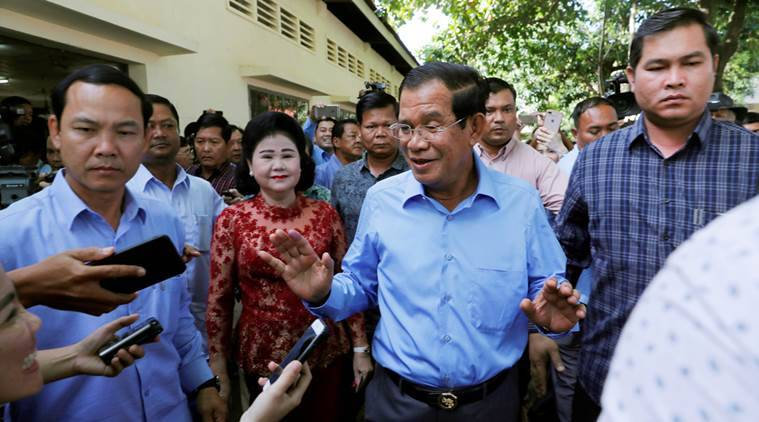 Cambodia, Hun Sen, Cambodia govt, Cambodia elections, world news, Indian Express news