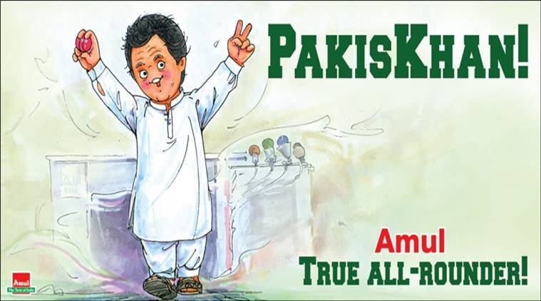 imran khan, pakistan, pakistan elections 2018, imran khan amul cartoon, latest amul cartoon, pakistan new pm, pakistan news, indian express