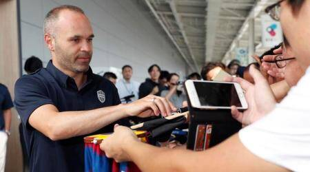 Andres Iniesta may make J.League debut on Sunday