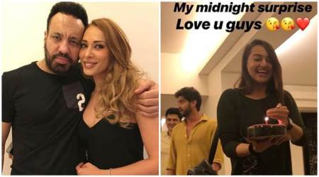 Iulia Vantur surprise birthday celebrations
