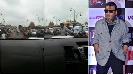 WATCH: Jackie Shroff 'manages traffic' in Lucknow; video goes viral