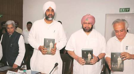 Captain Amarinder releases book by Jairam Ramesh