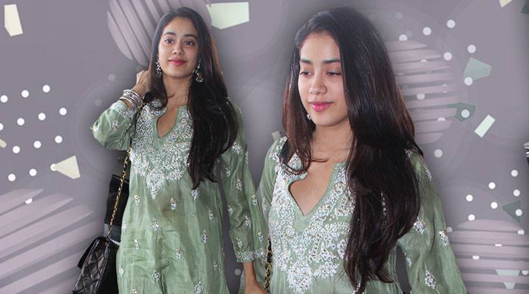 Janhvi Kapoor, Janhvi Kapoor Dhadak promotions, Janhvi Kapoor Lucknow, Janhvi Kapoor latest photos, Janhvi Kapoor fashion, Janhvi Kapoor airport style, indian express, indian express news