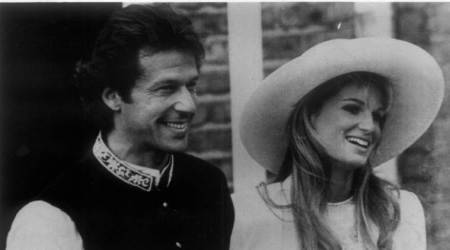 Imran Khan and Jemima Khan.