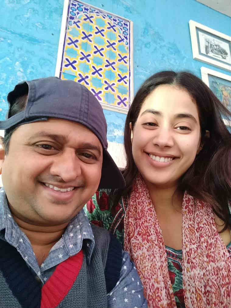 shridhar watsar with jhanvi kapoor