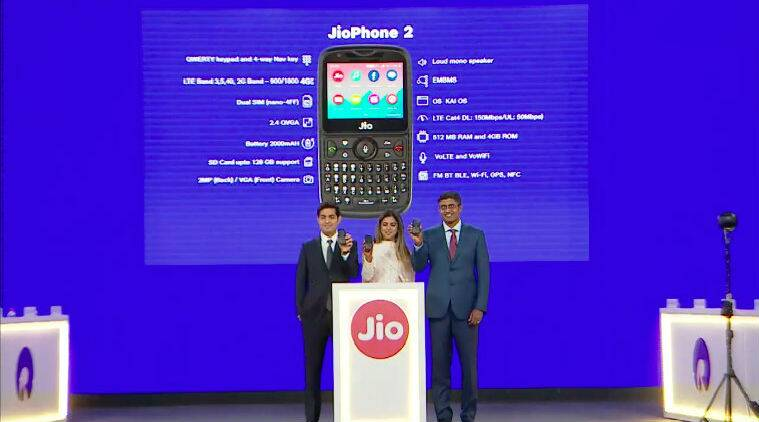 Reliance AGM 2018, JioPhone 2, JioPhone 2 price in India, JioPhone sale in India, JioPhone 2 specifications, GigaFiber, GigaFiber release date, GigaFiber price in India, JioPhone to get WhatsApp support, JioPhone Monsoon Hungama offer, Jio, Mukesh Ambani
