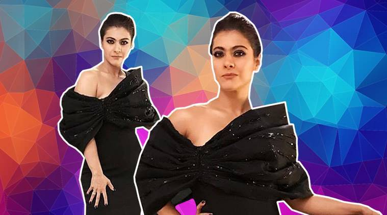 Kajol, Kajol Economic Times Awards, Kajol latest photos, Kajol fashion, Kajol Gaurav Gupta, Kajol black gown, indian express, indian express news