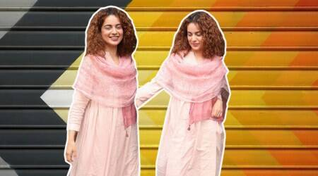 Kangana Ranaut keeps it chic and comfortable in this blush pink kurti