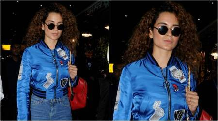Kangana Ranaut has the sassiest red bag and boots for her jazzy blue airport look