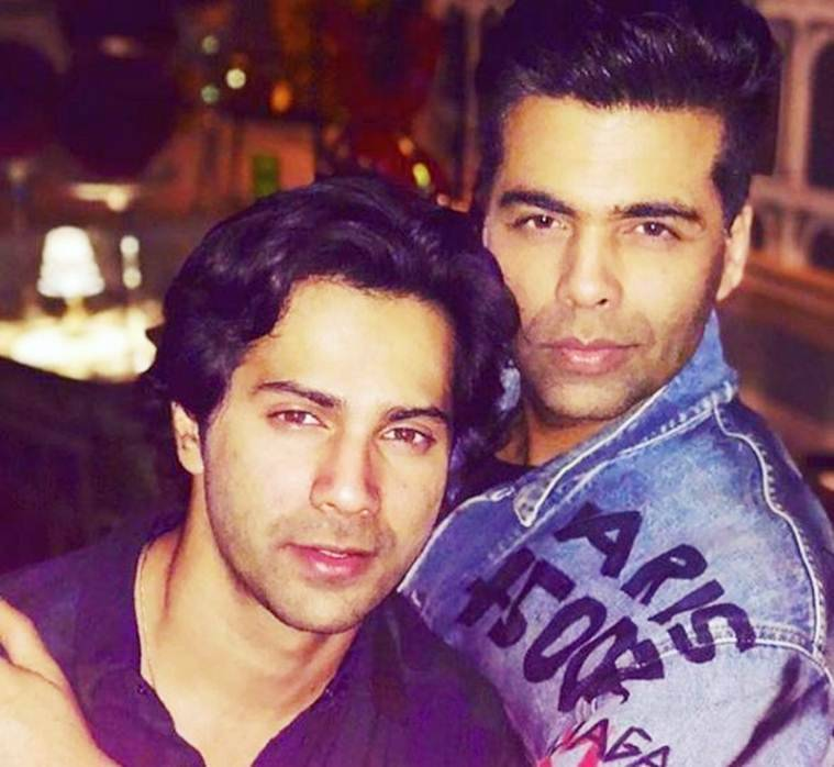 Karan Johar with Varun Dhawan