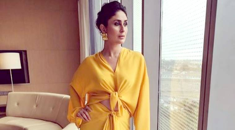 Kareena Kapoor Khan, Kareena Kapoor Khan yellow dress, Kareena Kapoor Khan yellow, yellow skirt-blouse Kareena Kapoor Khan