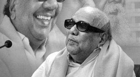 Karunanidhi rushed to hospital, is 'stable'; leaders meet family