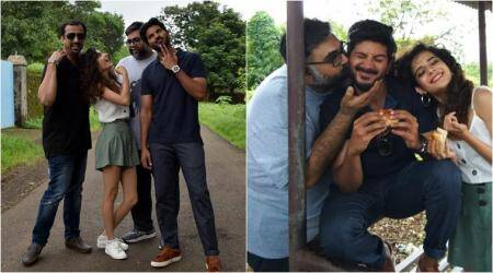 karwaan actors dulquer salmaan and mithila palkar go on a road trip