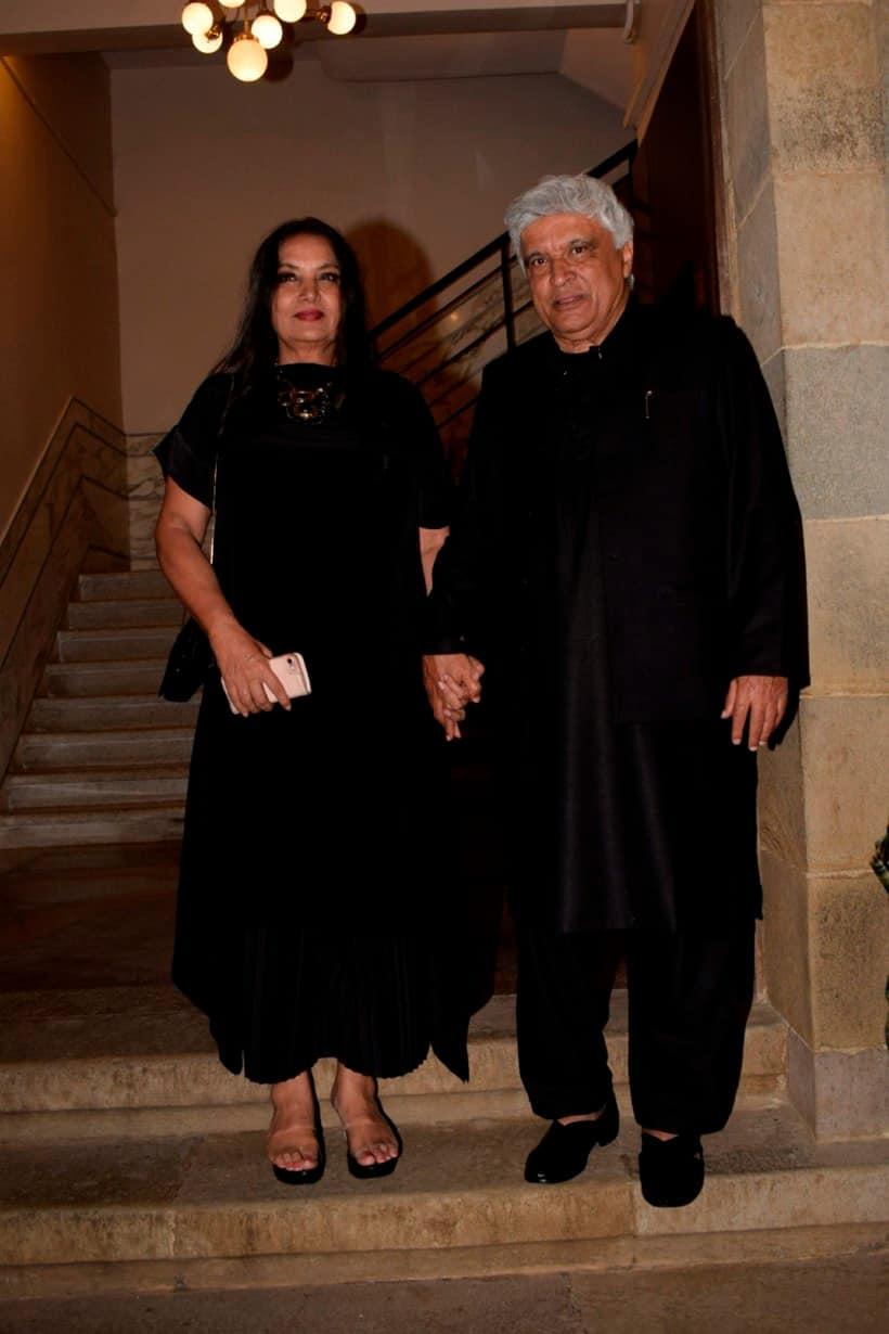 Javed Akhtar and Shabana Azmi at karwaan party