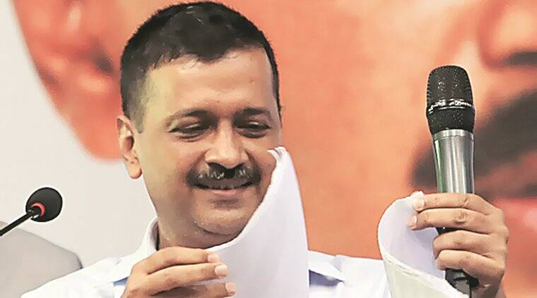 Delhi: At public gathering on CCTVs, CM Arvind Kejriwal tears L-G panel report