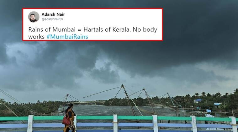 mumbai rains, kerala rains, rains in India, Mumbai rains, India rains, Heavy rains in India, Mumbai Kerala heavy rains, Mumbai Bengaluru Kolkata rains, Kolkata rains in India, Kolkata Mumbai rains, All over India rains funny, Indian express, Indian express news