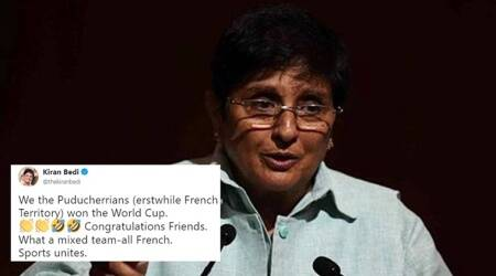 Kiran Bedi's tweet on France's FIFA World Cup victory gets trolled on the Internet