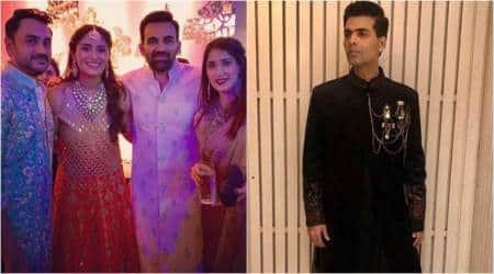 karan johar attends poorna patel's wedding