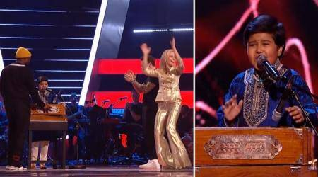 WATCH: Indian-origin boy stuns with a harmonium in The Voice Kids UK